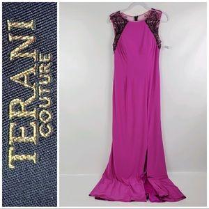 Terani Couture Pink maxi dress